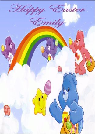 Personalised Care Bears Easter Card